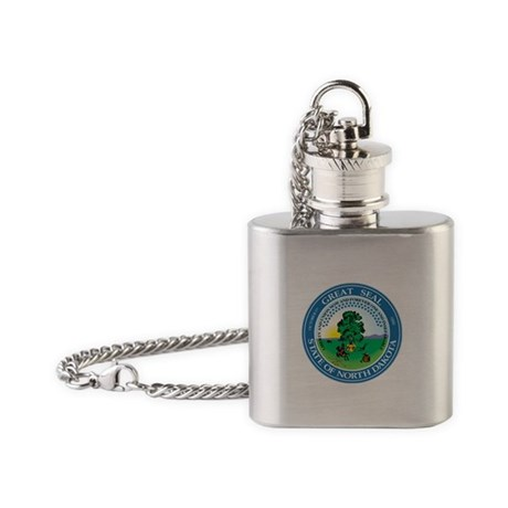 Great Seal of North Dakota Flask Necklace