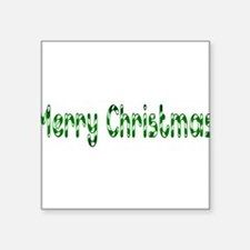 "green merry chirstmas Square Sticker 3"" x 3"""