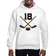 Hockey Player Number 18 Hoodie