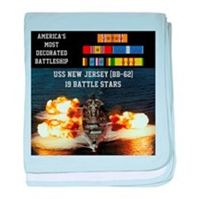 USS NEW JERSEY (BB-62) baby blanket