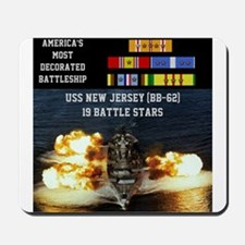 USS NEW JERSEY (BB-62) Mousepad