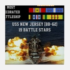 USS NEW JERSEY (BB-62) Tile Coaster