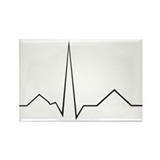 heartbeat Rectangle Magnet