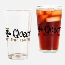 poker queen Drinking Glass