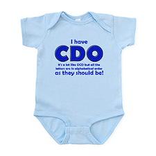 OCD CDO Funny T-Shirt Infant Bodysuit