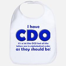 OCD CDO Funny T-Shirt Bib