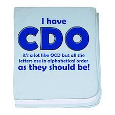 OCD CDO Funny T-Shirt baby blanket