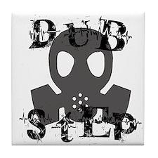 Dubstep Grey Gas Mask Tile Coaster