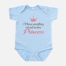 funny princess Infant Bodysuit
