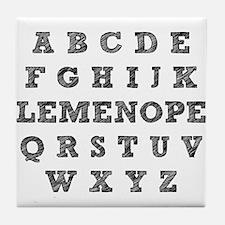 Honest Alphabet Elemenopee Funny T-Shirt Tile Coas