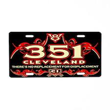 351 Cleveland Aluminum License Plate