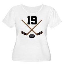 Hockey Player Number 19 T-Shirt