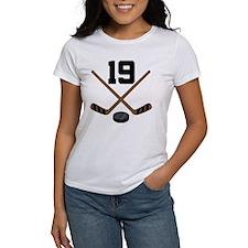 Hockey Player Number 19 Tee