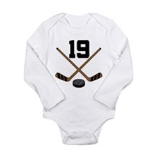Hockey Player Number 19 Long Sleeve Infant Bodysui