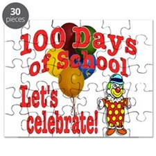 100th Day Clown Puzzle