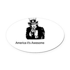 America It's Awesome Oval Car Magnet