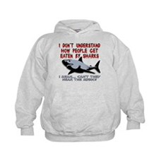 Danger Music Sharks Funny T-Shirt Hoody