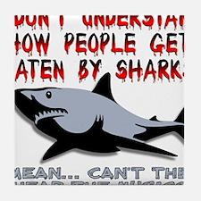 Danger Music Sharks Funny T-Shirt Tile Coaster