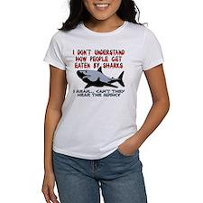 Danger Music Sharks Funny T-Shirt Tee
