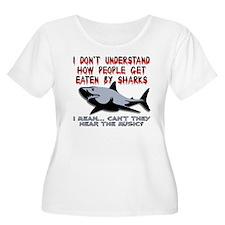 Danger Music Sharks Funny T-Shirt T-Shirt