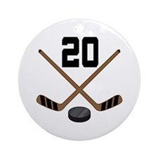 Hockey Player Number 20 Ornament (Round)