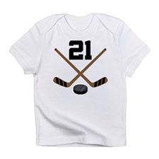 Hockey Player Number 21 Infant T-Shirt