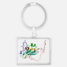 Viral dUTPase enzyme, molecular model - Landscape