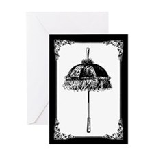 Victorian Parasol Greeting Card