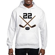 Hockey Player Number 22 Hoodie