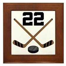 Hockey Player Number 22 Framed Tile