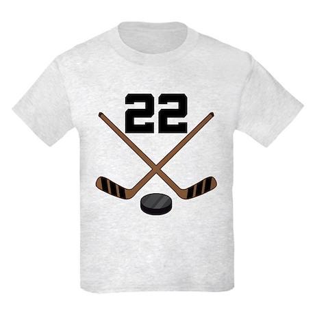 Hockey Player Number 22 Kids Light T-Shirt