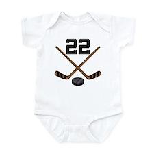 Hockey Player Number 22 Infant Bodysuit