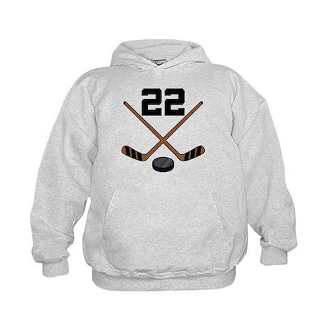Hockey Player Number 22 Kids Hoodie