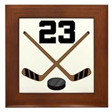 Hockey Player Number 23 Framed Tile