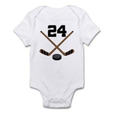 Hockey Player Number 24 Infant Bodysuit