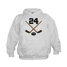 Hockey Player Number 24 Hoodie
