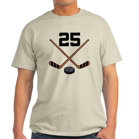 Hockey Player Number 25 Light T-Shirt