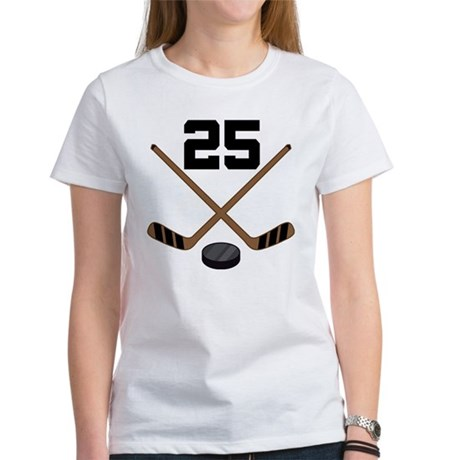 Hockey Player Number 25 Women's T-Shirt