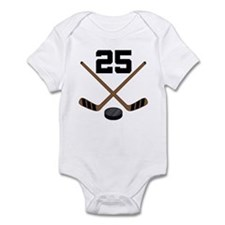 Hockey Player Number 25 Infant Bodysuit