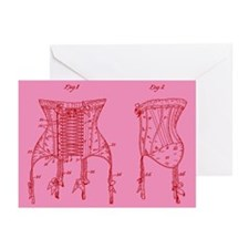 Corset Patent Pink Greeting Cards (Pk of 10)