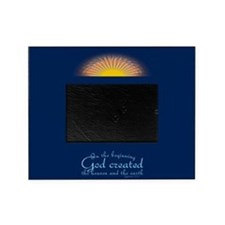 Genesis 1 1 Bible Verse Sunrise Picture Frame