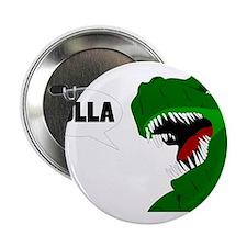 "Funny T-rex dinosaur Holla design 2.25"" Button"