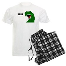 Funny T-rex dinosaur Holla design pajamas