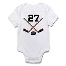 Hockey Player Number 27 Infant Bodysuit