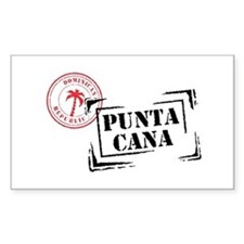 Punta Cana Passport Stamp Oval Decal