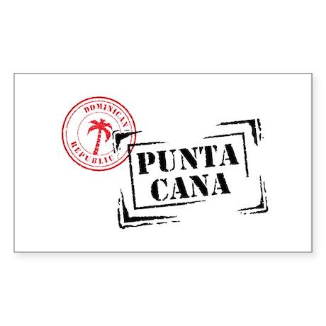 Punta Cana Passport Stamp Oval Sticker