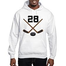 Hockey Player Number 28 Hoodie