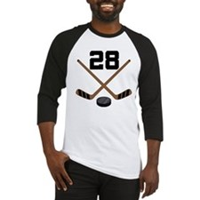 Hockey Player Number 28 Baseball Jersey