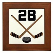 Hockey Player Number 28 Framed Tile