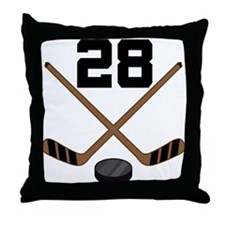 Hockey Player Number 28 Throw Pillow